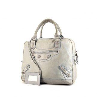 Best Balenciaga Replica bag in grey leather 08155f84d1612