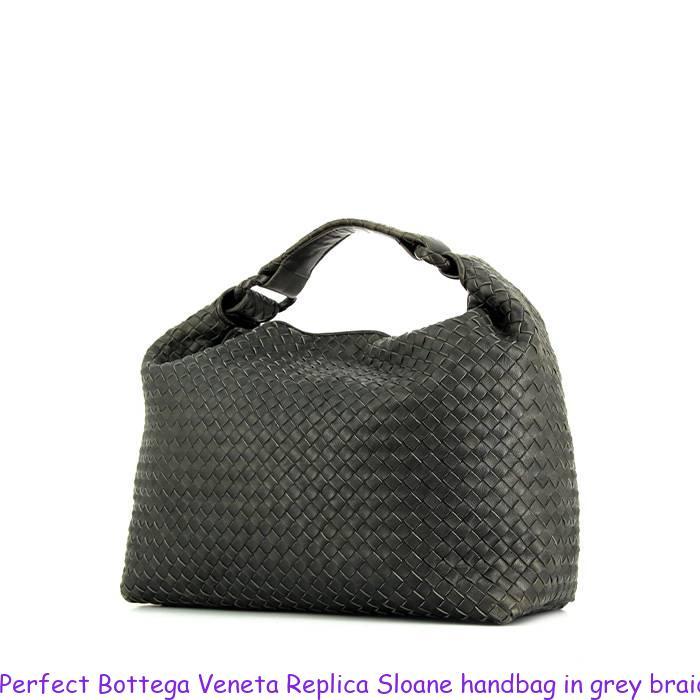92bb36182ca Perfect Bottega Veneta Replica Sloane handbag in grey braided leather