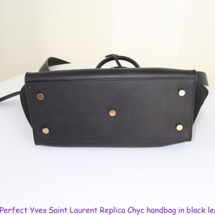 bd11f269e532 Perfect Yves Saint Laurent Replica Chyc handbag in black leather ...