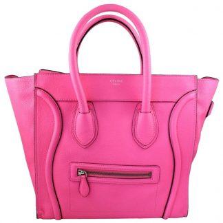 e0d63d2c59ce ... Best Cheap Céline Fake Luggage Mini Caviar Fluo Pink Leather Tote celine  big bag replica ...