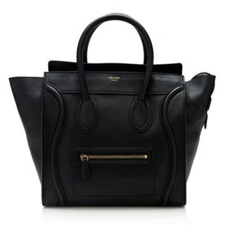 329558a150 You re viewing  Best Cheap Céline Imitation Luggage Smooth Calfskin Mini  Black Leather Tote celine nano bag £1