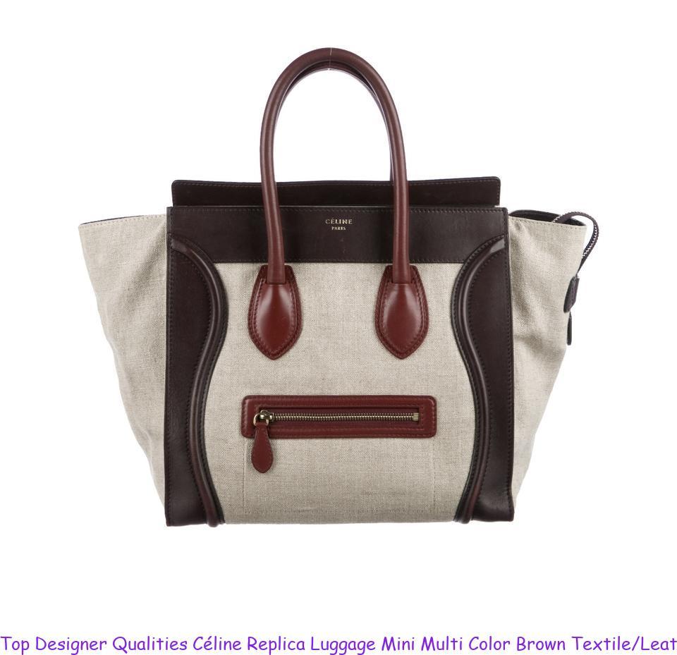 703eaaeb5 Top Designer Qualities Céline Replica Luggage Mini Multi Color Brown  Textile/Leather Tote celine replica box
