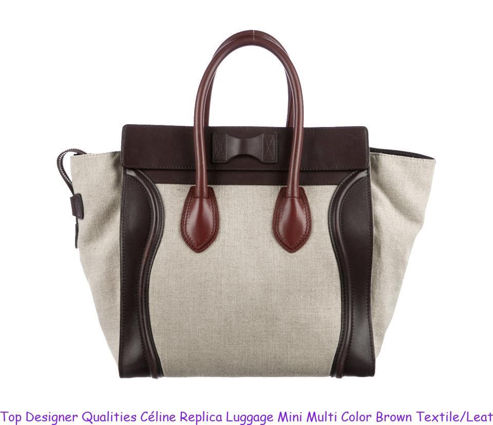 Top Designer Qualities Céline Replica Luggage Mini Multi Color Brown  Textile Leather Tote celine replica box e51683023b4d7