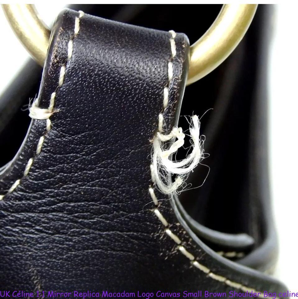 32f3104a06e UK Céline 1:1 Mirror Replica Macadam Logo Canvas Small Brown Shoulder Bag  celine big bag replica